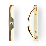 Sliding Door Lockset - Bright Brass