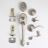 TM Patio Lockset - Satin Nickel | Click to enlarge