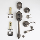 TM Patio Lockset - Antique Nickel | Click to enlarge