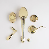 TM Patio Dummy Lockset - Bright Brass | Click to enlarge