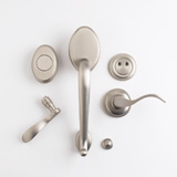 TM Patio Dummy Lockset - Satin Nickel | Click to enlarge